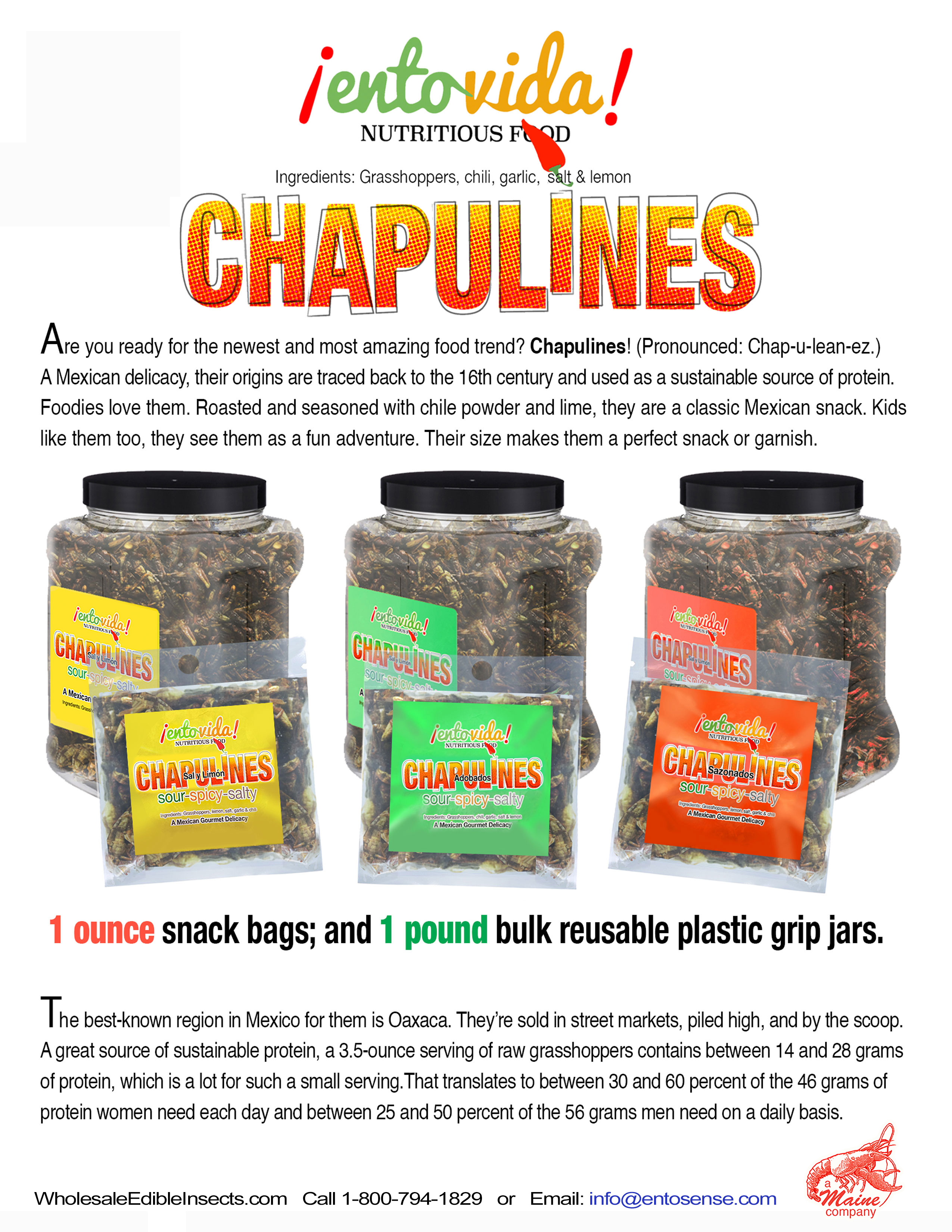 Chapulines For Sale